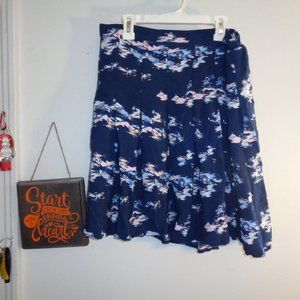 Old Navy Blue flared skirt Size M EUC Lined